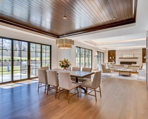 Breakfast Nook with View Towards Family Room - McLean, Virginia Custom Home Builder