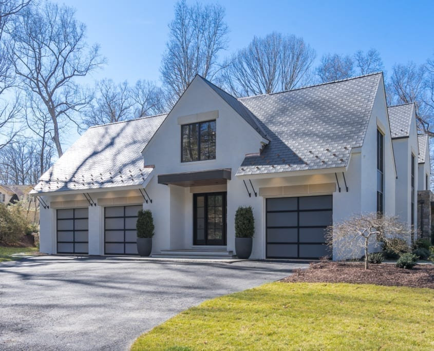 Family Entrance and Garages - McLean, Virginia Custom Home Builder