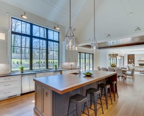 Kitchen View Towards Breakfast Nook - McLean, Virginia Custom Home Builder
