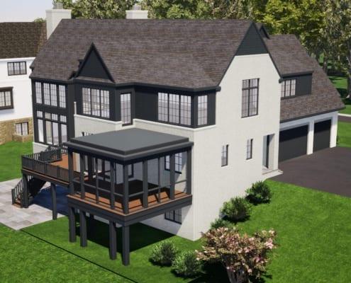1098 Ingleside Ave McLean, VA 22101 - Custom Home - Rear Garage Side - McLean, Virginia Custom Home Builder