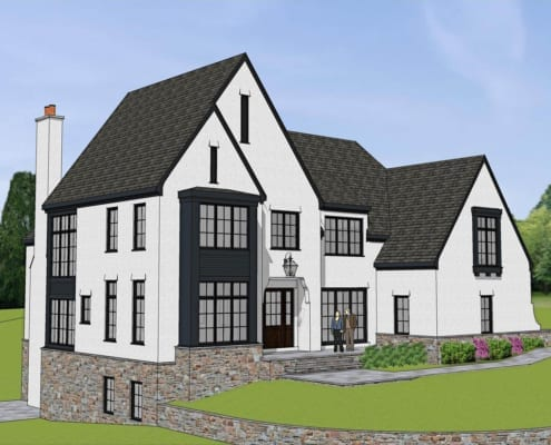 2006 Lorraine Avenue, McLean, Virginia 22101 - Main Front Perspective - McLean, Virginia Custom Home Builder
