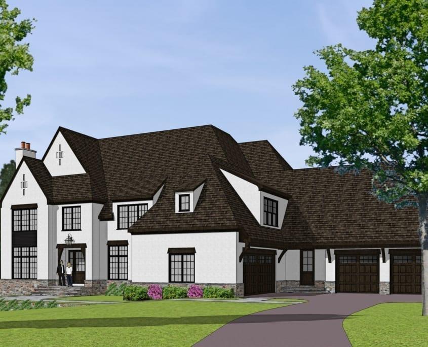 Corbin Court - Approach View - McLean, Virginia Custom Home Builder