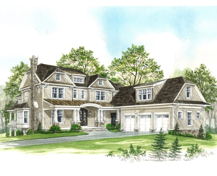 Somerset I - Exterior - McLean, Virginia Custom Home Builder