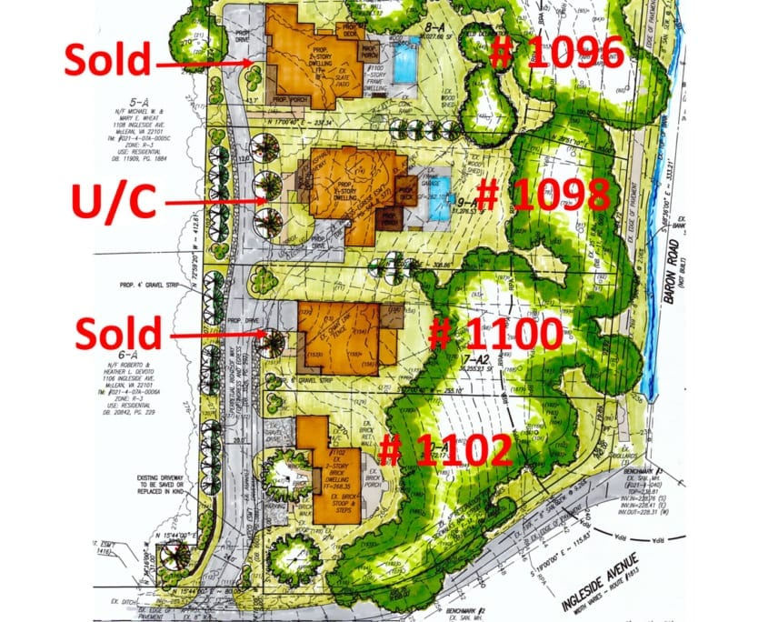 1102 Ingleside Ave McLean, VA 22101 - Custom Home - Site Plan - McLean, Virginia Custom Home Builder