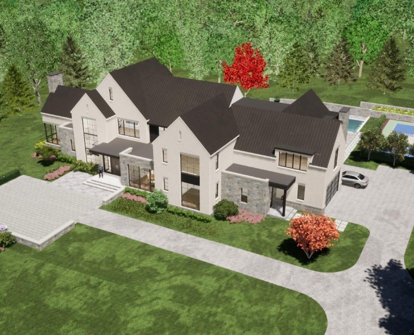 Sothoron Road, McLean, Virginia 22101 - Aerial Rendering