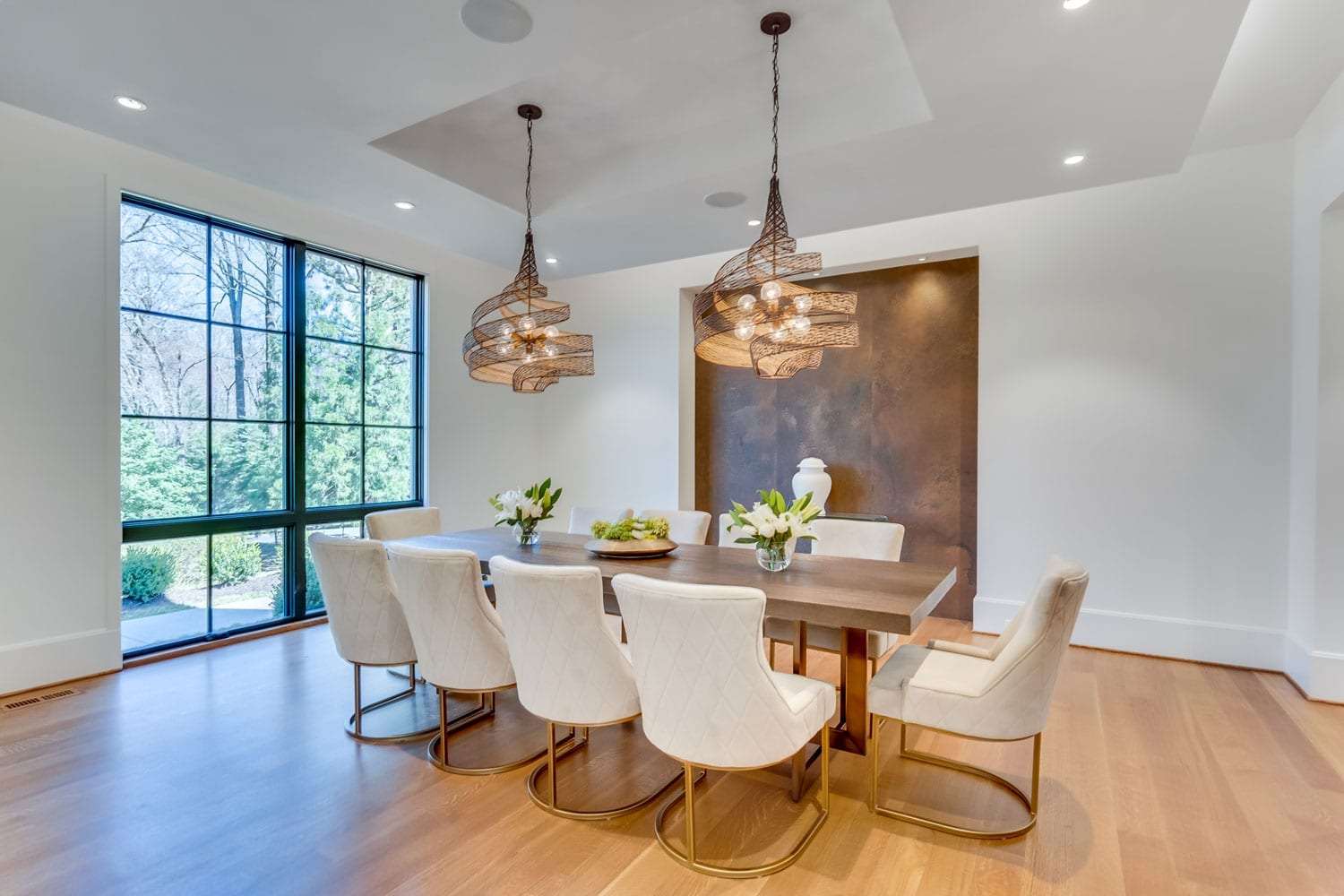 Mottrom Drive - Dining Room with Accent Panel - McLean, Virginia Custom Home Builder