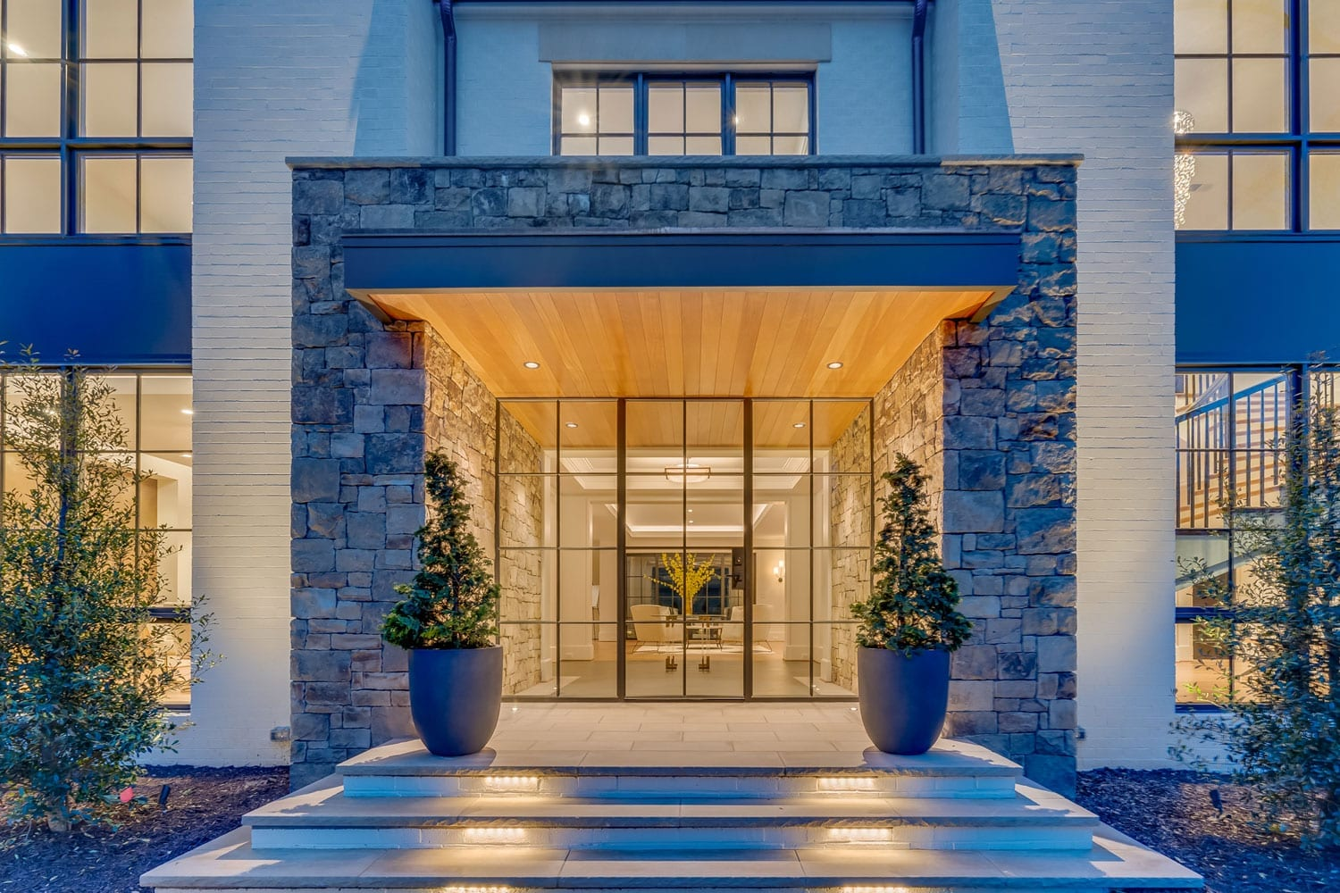 Mottrom Drive - Front Entrance - McLean, Virginia Custom Home Builder